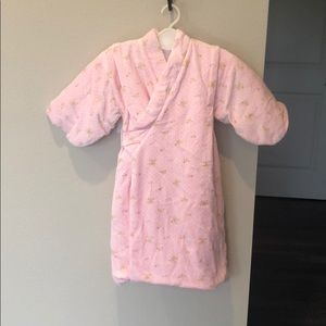 Baby girl's winter kimono in pink, sized 1-2 yrs.